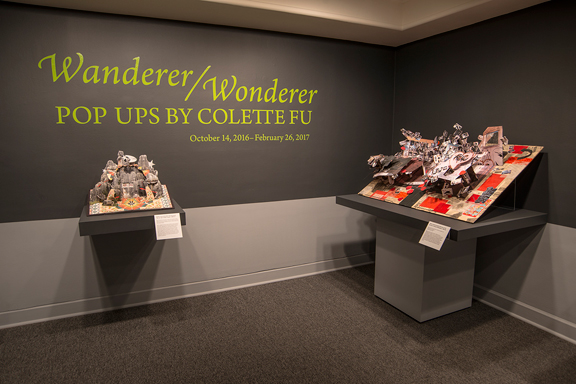 Installation view of Wanderer/Wonderer: Pop-Ups by Colette Fu; Photo: Lee Stalsworth