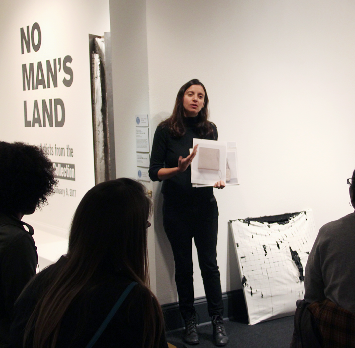 Analia Saban shares her work with attendees; Photo: Emily Haight, NMWA