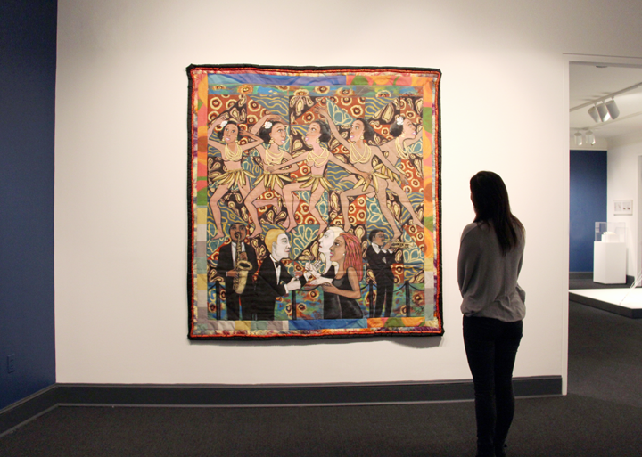Installation view of Faith Ringgold's Jo Baker's Bananas; Photo: Madeline Barnes, NMWA