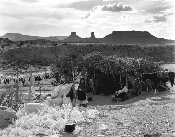 Laura Gilpin, The Summer Shelter in the Cove, Arizona, 1934; Gelatin silver print; Eugene B. Adkins Collection at Philbrook Museum of Art, Tulsa, and Fred Jones Jr. Museum of Art, University of Oklahoma, Norman