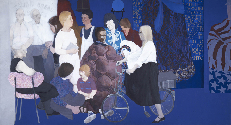 May Stevens, Soho Women Artists, 1978; Acrylic on canvas, 78 x 142 in.; National Museum of Women in the Arts, Museum purchase: The Lois Pollard Price Acquisition Fund