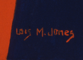 Detail of Jones's signature in Ode to Kinshasa