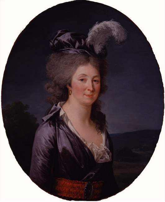 Adélaïde Labille-Guiard, Portrait of a Woman (Presumed Portrait of the Marquise de Lafayette), 1793-94; Oil on canvas, 30 3/4 x 24 3/4 in.; National Museum of Women in the Arts, Gift of Wallace and Wilhelmina Holladay