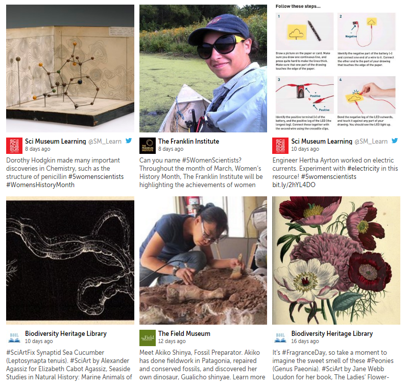 Browse the Storify collection of #5WomenScientists posts from March 2017