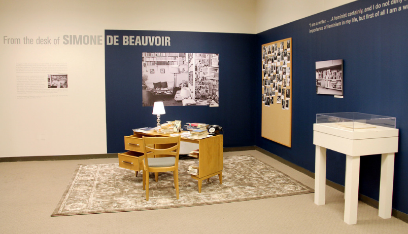 Installation view of From the Desk of Simone de Beauvoir; Photo: Emily Haight, NMWA