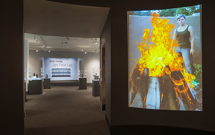 Installation view of Border Crossing: Jami Porter Lara; Photo: Lee Stalsworth