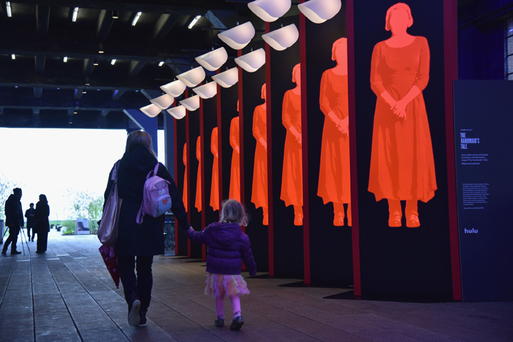 The Observer discusses a new Handmaid's Tale-inspired installation