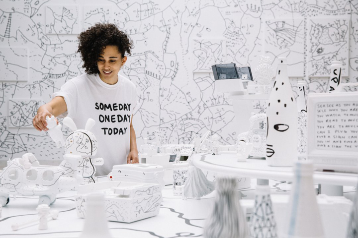 Shantell Martin at Albright-Knox Art Gallery