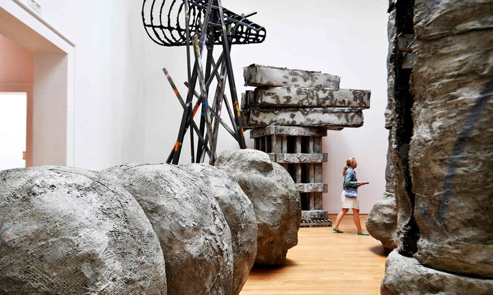 The Guardian explores Phyllida Barlow's work at the Venice Biennale.