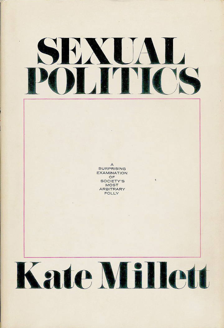 Cover of Sexual Politics by Kate Millett, 1969