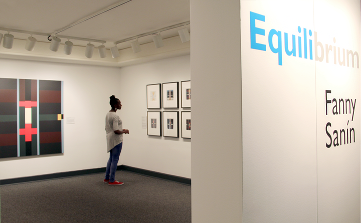 Installation view of Equilibrium: Fanny Sanín