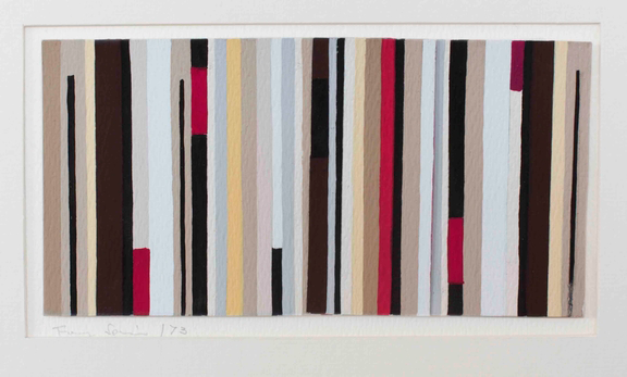 Fanny Sanín, Small Study No. 4, 1973; Gouache on paper; Courtesy of the artist