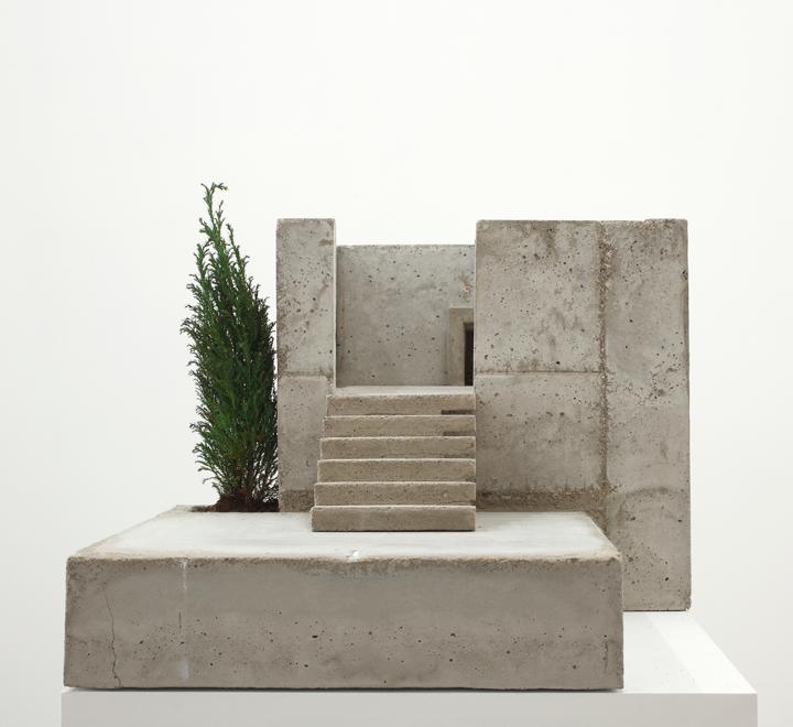 Isa Melsheimer, Dachgarten/Treppe (Roof Garden/Stairs), 2010; Concrete,  Metal, And Sempervivum, 21 ¼ X 35 ⅜ X 16 In.; Fonds Municipal Du0027art  Contemporain De ...