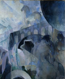 Mary Swanzy, Female Nudes with Horse and Viaduct, ca. 1930s, Courtesy Pyms Gallery, London