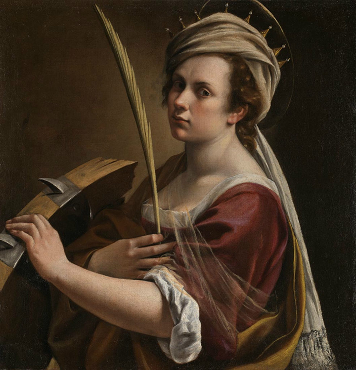 Artemisia Gentileschi, Self-Portrait as Saint Catherine of Alexandria, ca. 1615–7; © The National Gallery, London