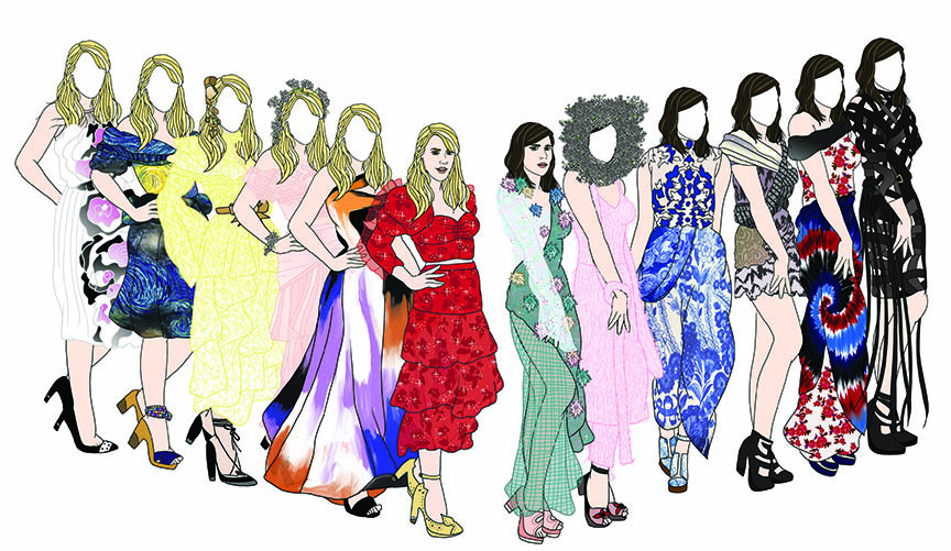 Rodarte Paper Dolls featuring designers Kate and Laura Mulleavy