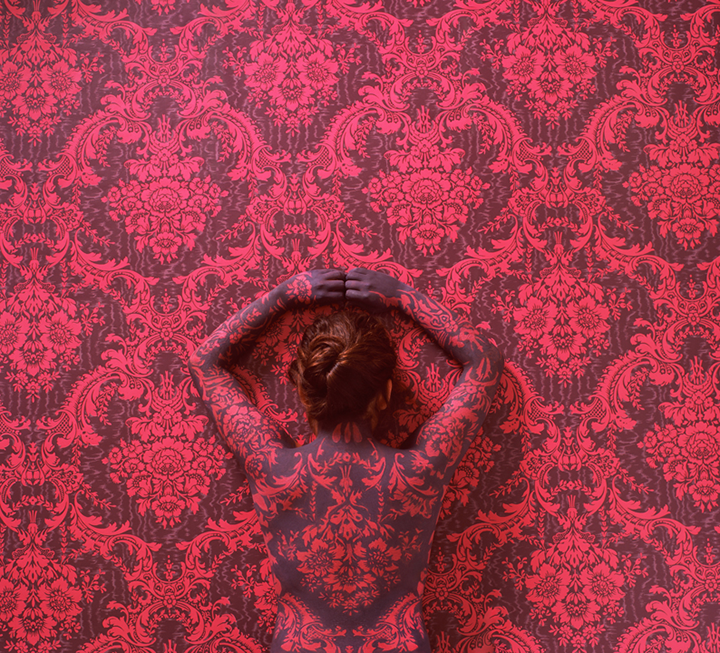 Cecilia Paredes, Sea of Roses, 2011; Photographic paper mounted on aluminum sintra, 39 ⅛ x 43 ¼ in.; Image courtesy of Cecilia Paredes and saltfineart