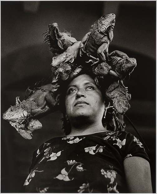 Graciela Iturbide, Nuestra Señora de las Iguanas, Juchitán, México, (Our Lady of the Iguanas, Juchitán, Mexico), 1979; Courtesy of the Museum of Fine Arts, Boston