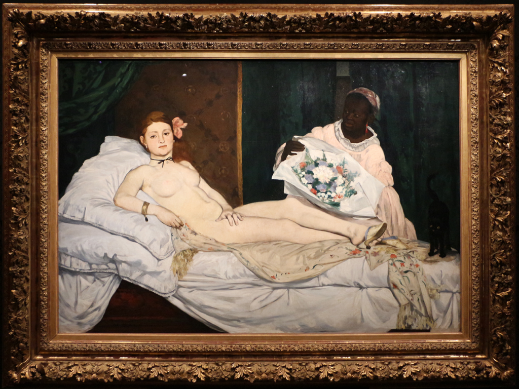 "Édouard Manet, ""Laure"" (1863), oil on canvas, 130 x 190 cm (via Wikimedia Commons, Musée d'Orsay, Paris)"