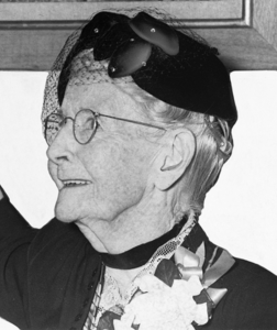 Grandma Moses pictured in a 1953 edition of the New York World-Telegram and Sun newspaper