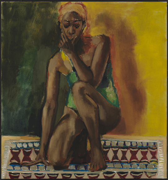 In 2020, the first major survey of Lynette Yiadom-Boakye's work will open at Tate; Lynette Yiadom-Boakye, Amber and Jasmine (2018), oil on linen, 59 1/4x 55 1/8 inches (Courtesy the artist, Jack Shainman Gallery, New York, and Corvi-Mora, London © Lynette Yiadom-Boayke)