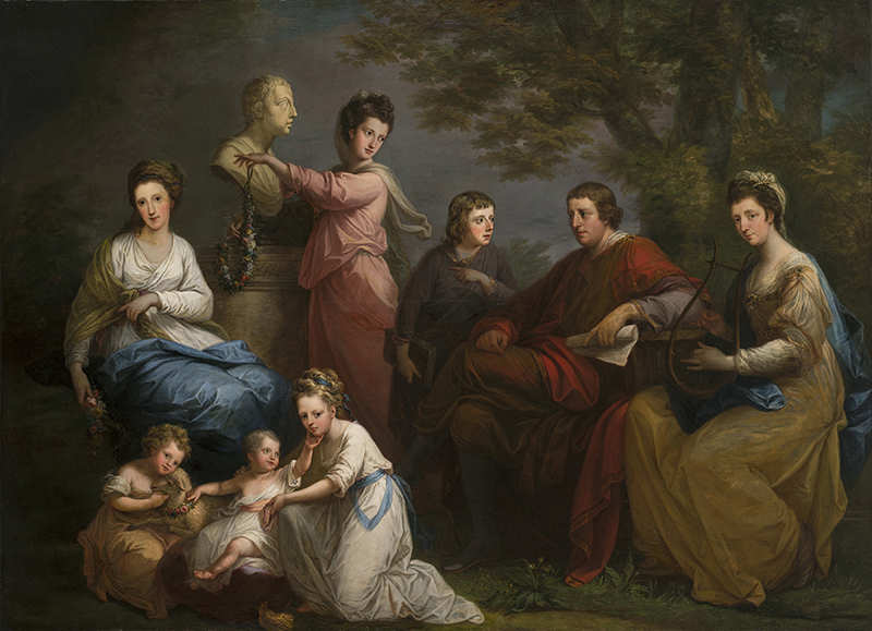 Angelica Kauffman, The Family of the Earl Gower, 1772; Oil on canvas, 59 1/4 x 82 in.; National Museum of Women in the Arts, Gift of Wallace and Wilhelmina Holladay; Photo by Lee Stalsworth