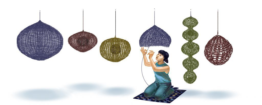 The Ruth Asawa Google doodle by Alyssa Winans; Courtesy of Google