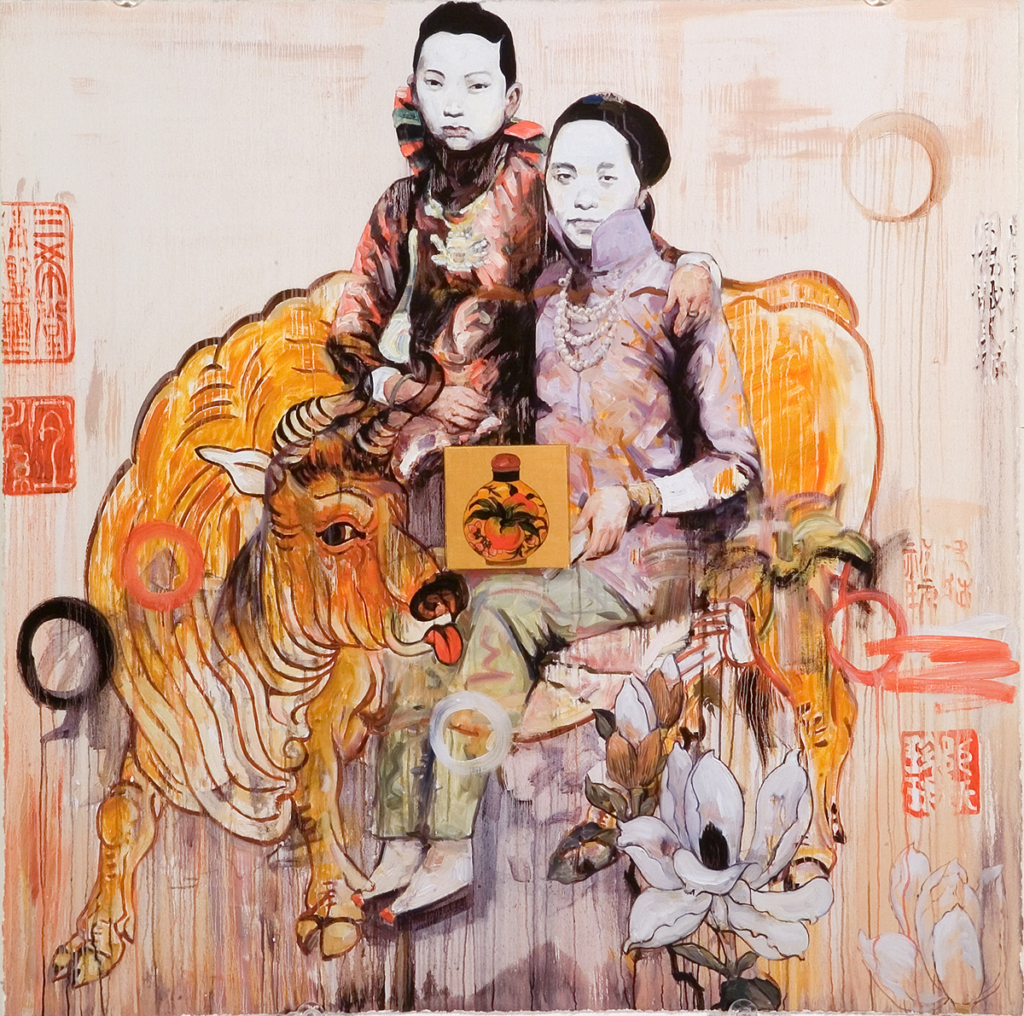 "Hung Liu, Untitled (from the series ""Seven Poses""), 2005; Digital print on paper, 14 x 14 in.; NMWA, Gift of the Greater Kansas City Area Committee of NMWA; © Hung Liu; NMWA holds multiple works by the artist in the museum's collection"