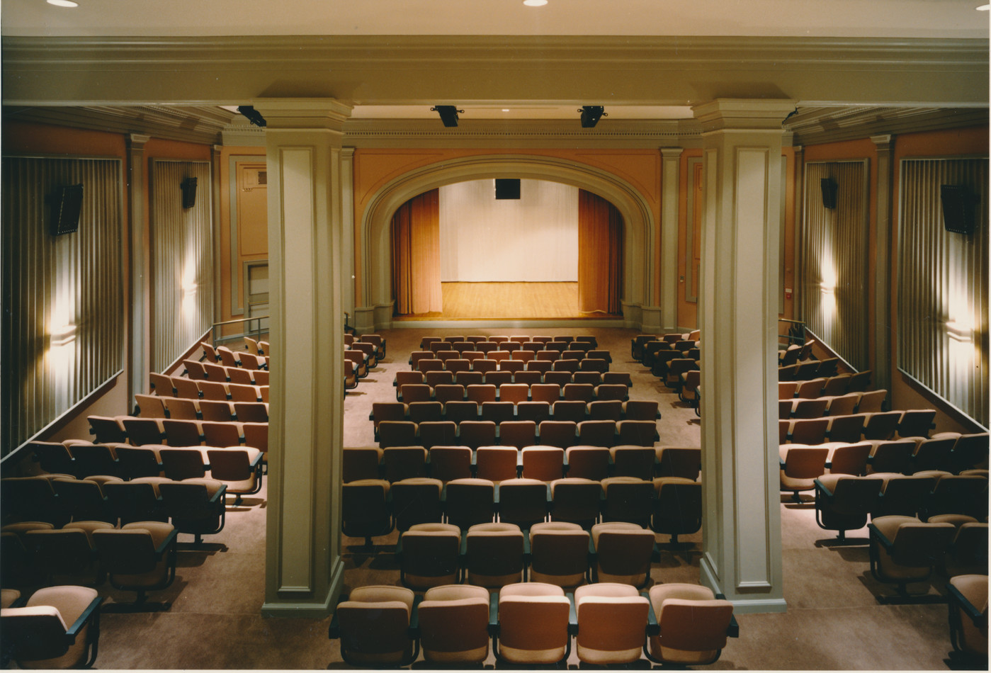 Interior view of the Performance Hall at the museum.
