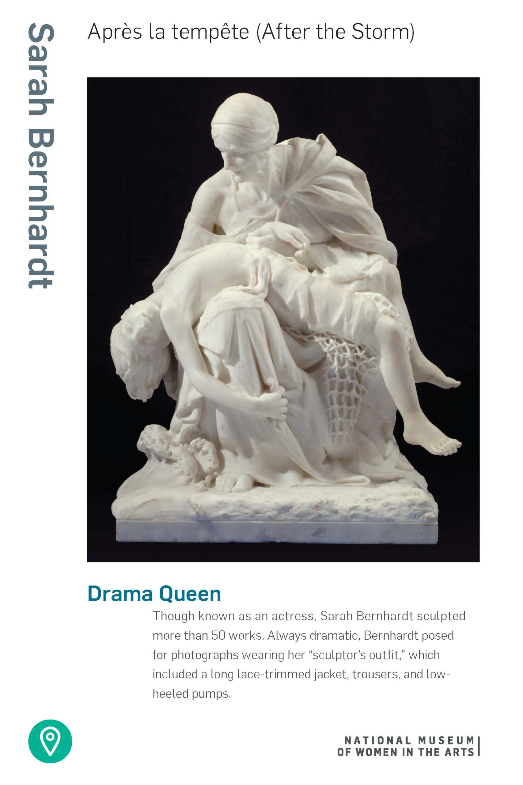 Facts about the artist Sarah Bernhardt and her sculpture 'After the Storm' (PDF)