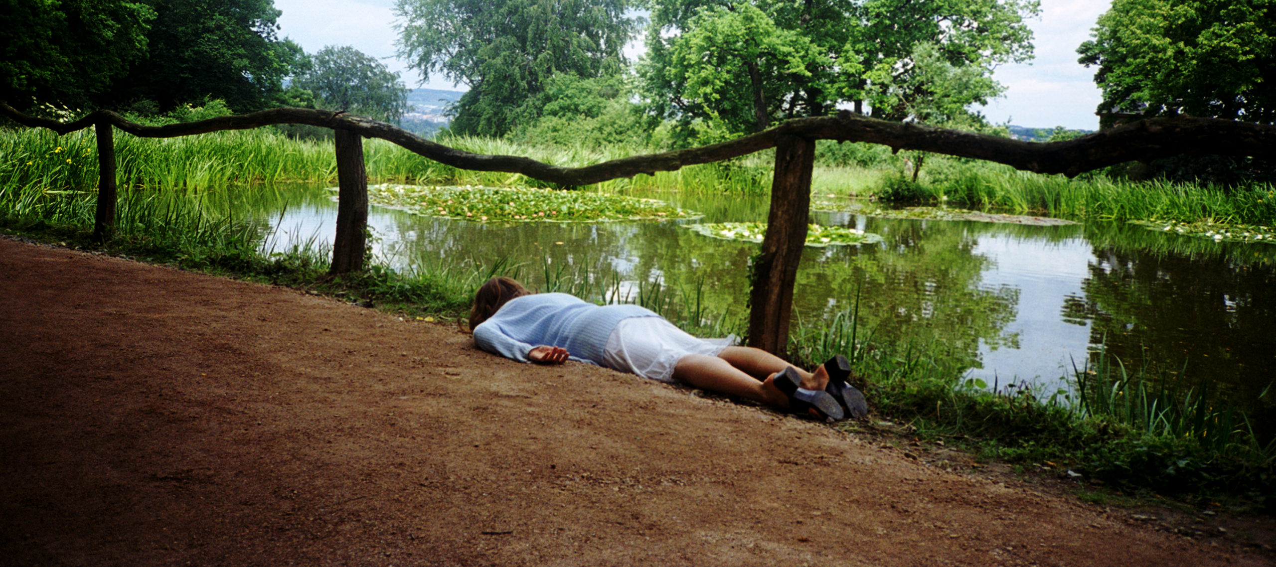 Janaina Tschäpe, Weimar, from <i>100 Little Deaths</i>, 1998; Chromogenic color print, 31 x 47 in.; NMWA, Gift of Heather and Tony Podesta Collection; © Janaina Tschäpe; Image courtesy of Janaina Tschäpe studio