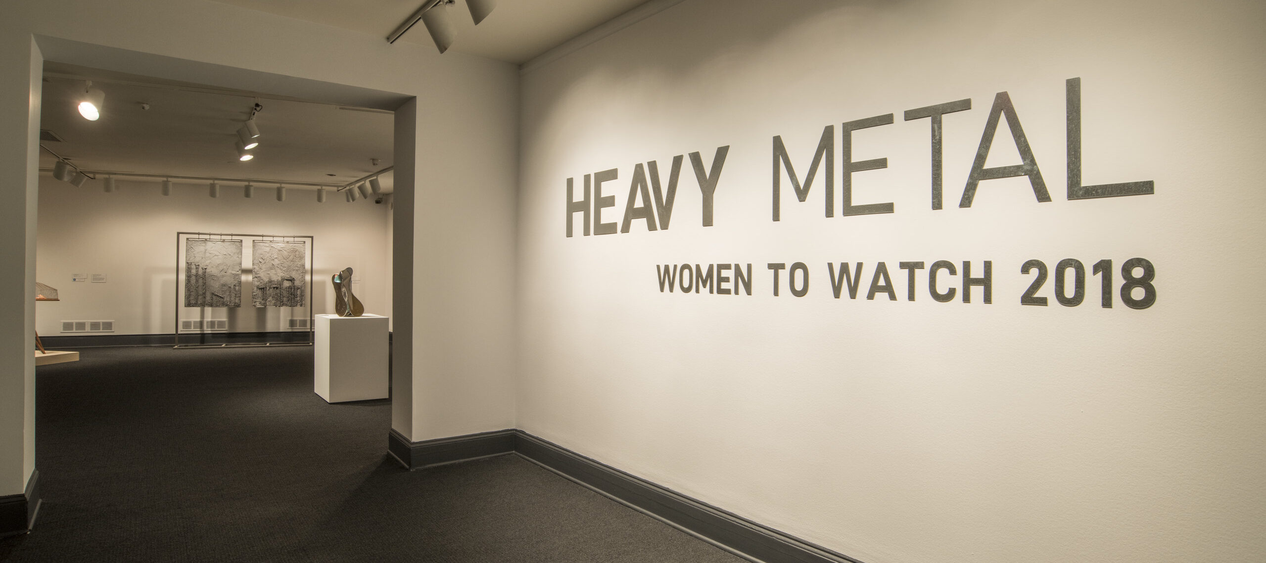<i>Heavy Metal—Women to Watch 2018</i> Installation; Photo by Lee Stalsworth