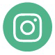 Green circle with a white outline of the Instagram logo
