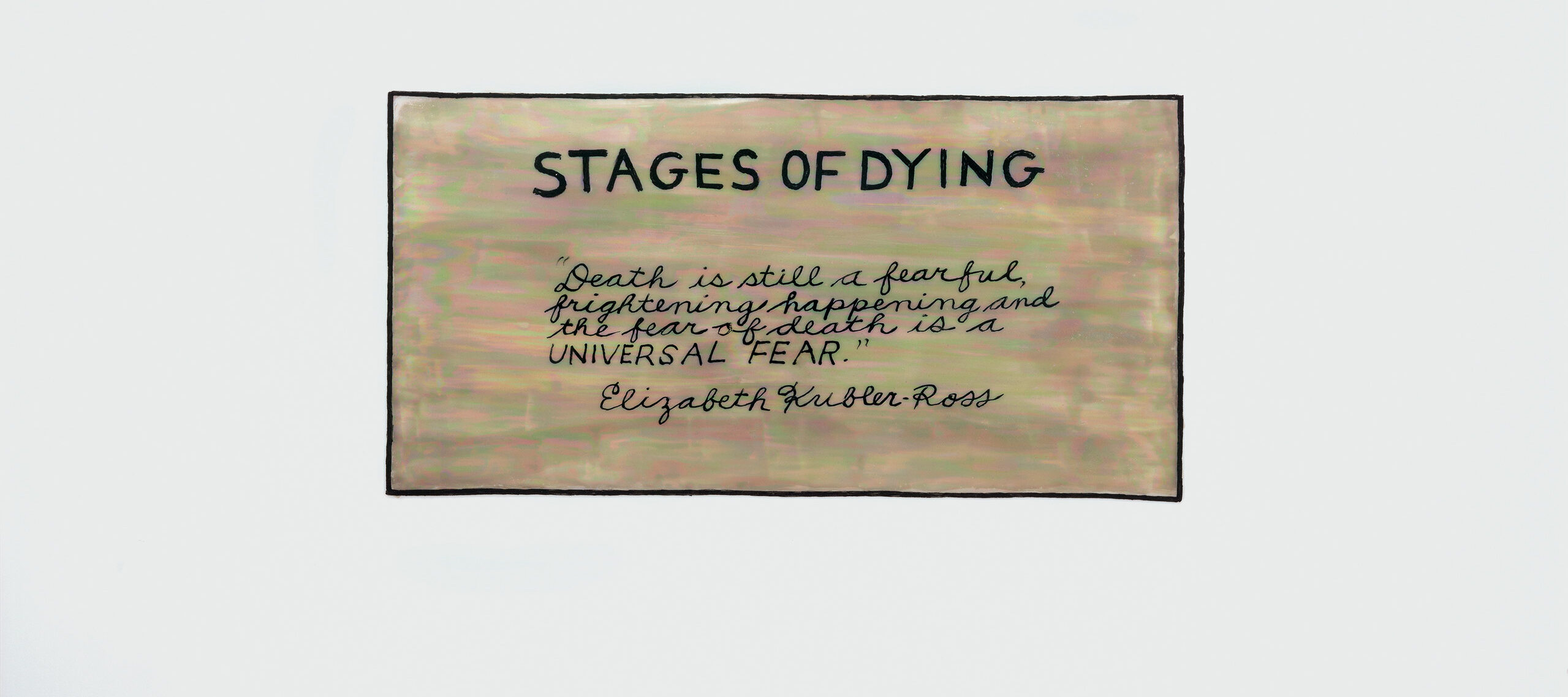 Judy Chicago,<i> Stages of Dying 1/6</i>, from <i>The End: A Meditation on Death and Extinction</i>, 2015; China paint, pen work, and luster on porcelain, 12 x 16 in.; Courtesy of the artist; Salon 94, New York; and Jessica Silverman Gallery, San Francisco; © Judy Chicago/Artists Rights Society (ARS), New York; Photo © Donald Woodman/ARS, NY