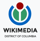The Wikimedia DC logo, featuring a red circle, two green shapes, and a blue semi-circle around them.