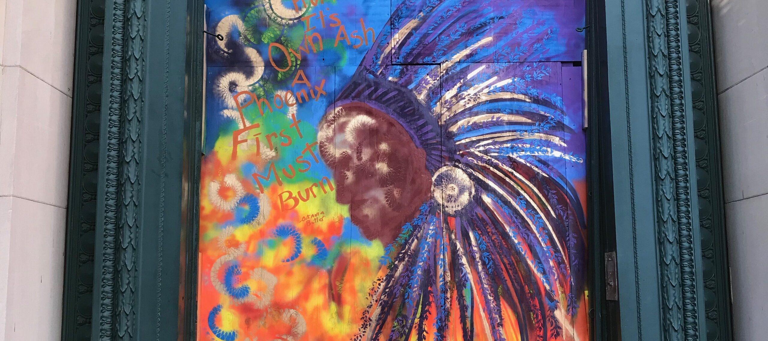 NMWA mural by Quest Skinner; Photo by Mara Kurlandsky