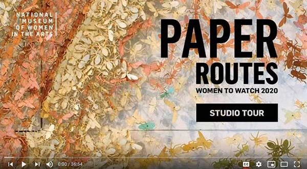 Screenshot of a video title card that reads Paper Routes Studio Tour
