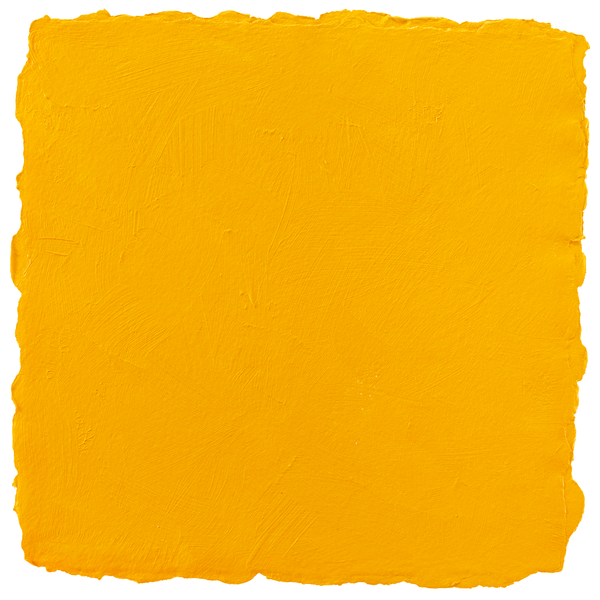 A bright yellow painted square with soft uneven edges.