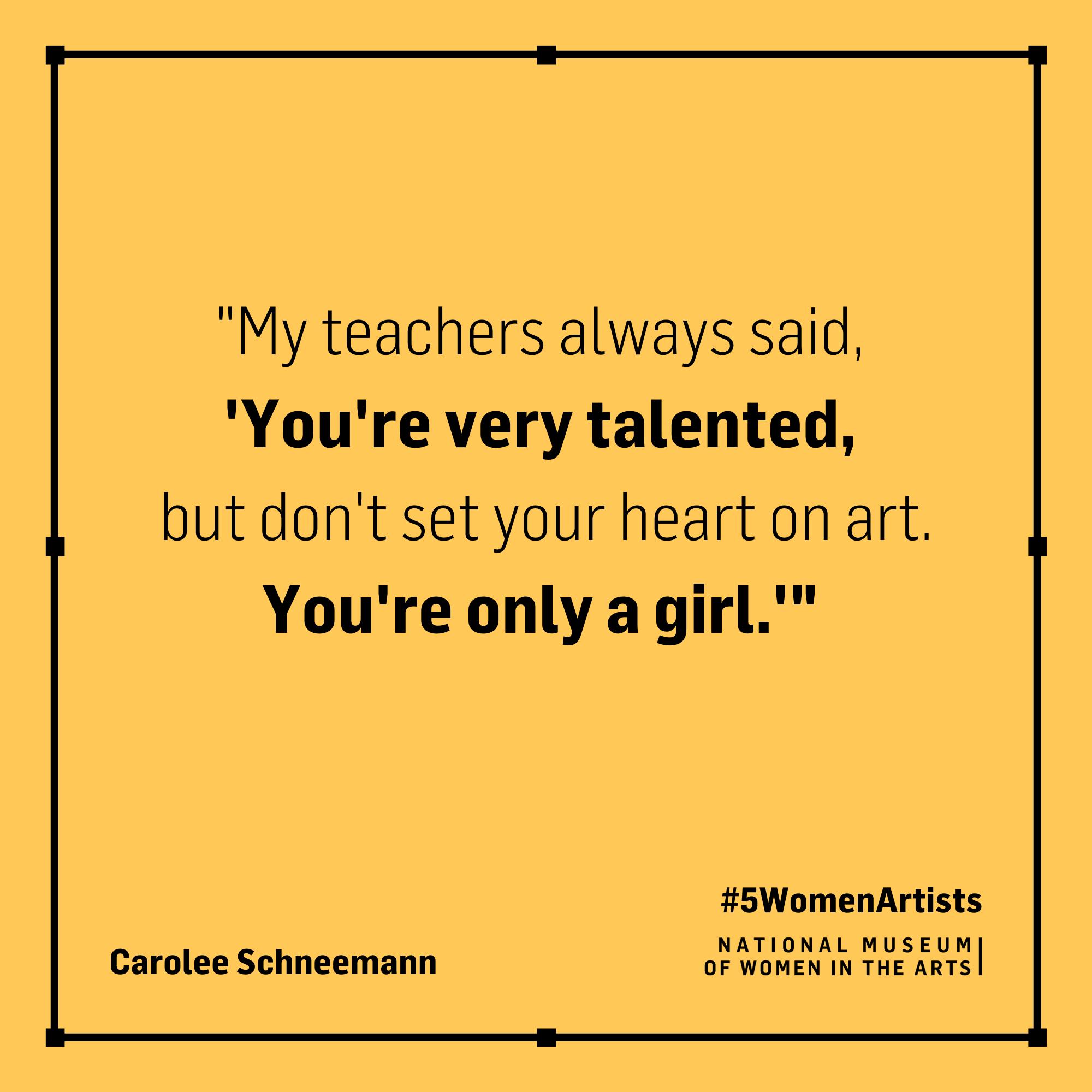 Carolee Schneemann quote,