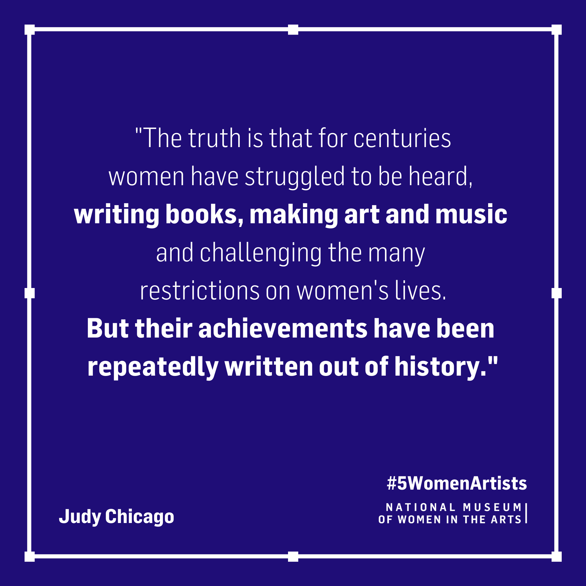 Judy Chicago quote,
